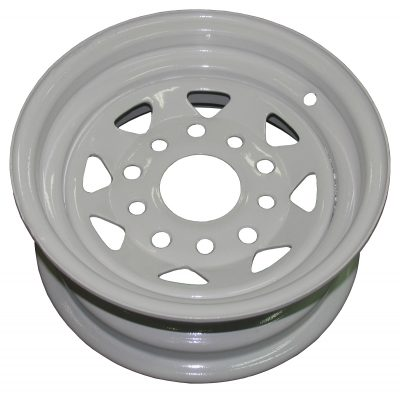 """10"""" Holden and Ford Stud Pattern Galvanised and White Powdercoated RIM"""