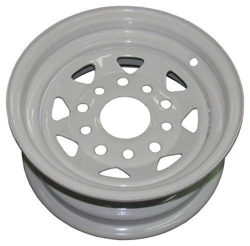 "10"" Holden and Ford Stud Pattern Galvanised and White Powdercoated RIM"