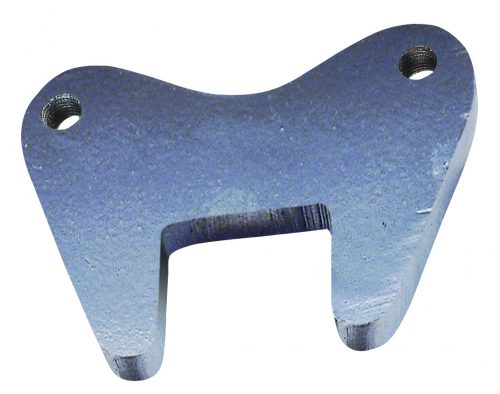 Brake caliper mounting plate to suit 40mm square axle. Black (not galvanised)