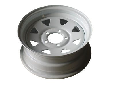 """14"""" Ford Galvanised and White Powdercoated RIM"""