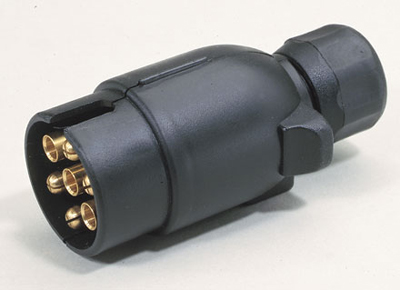 7 pin large round plastic plug