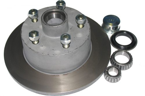 Disk Hub galvanised - suits HQ Holden wheel, incl. Ford bearings, marine seal, dustcap & wheel nuts.