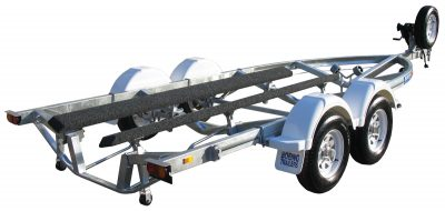 Ski Boat Trailer with Carpet Skids by Boeing Trailers