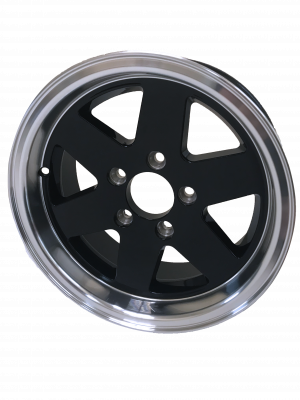 13 x 5 Black Alloy Wheel