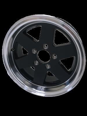 13 x 5 Black Alloy Wheel